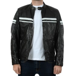 Black Leather Jacket P008 GEROME